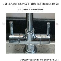 old rangemaster spa filter tap handle detail