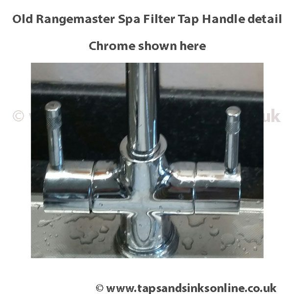 old rangemaster spa filter tap handle detail