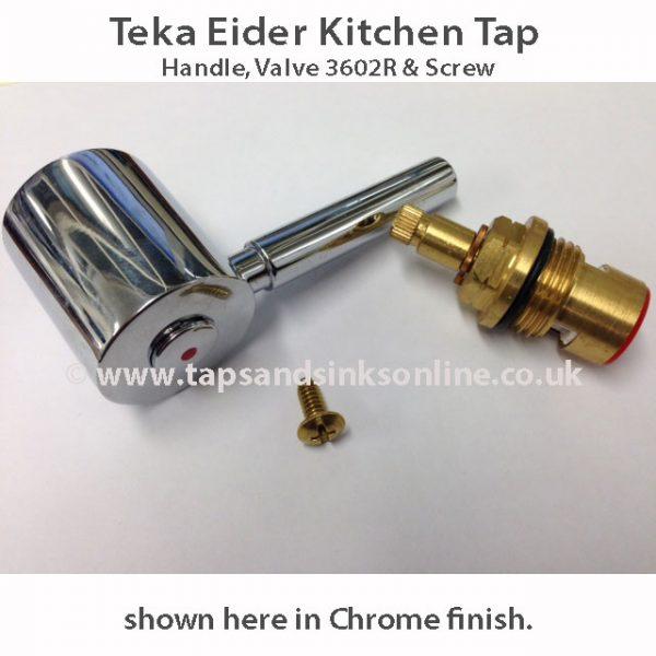 teka eider handle and valve set
