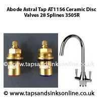 Abode Astral AT1156 3505R Valves Pair