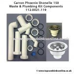 Carron Phoenix Shonelle 150 Waste & Plumbing Kit Components 112.0021.119