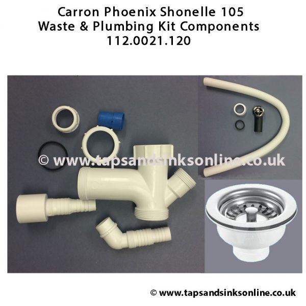 Shonelle 105 112.0021.120 Waste & Plumbing Kit