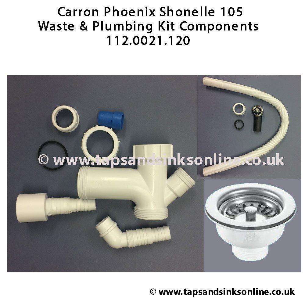 carron phoenix shonelle 105 waste kit 112 0021 120 kitchen sink plugs screwfix kitchen sink plugs tesco