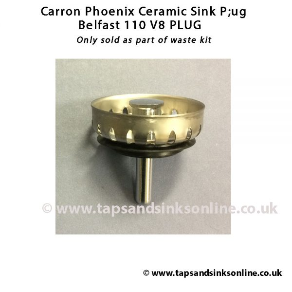 Belfast 110 Plug V8 only available as part of complete waste kit