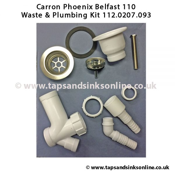 Carron Phoenix Belfast 110 Waste & Plumbing Kit 112.0207.093