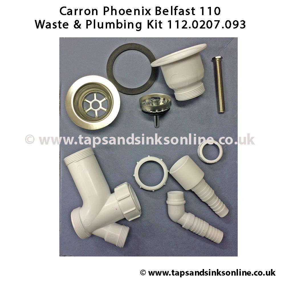 carron phoenix belfast 110 waste kit 112 0207 093 kitchen