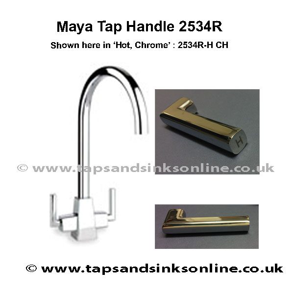 2534R H CH Handle Chrome Maya Tap
