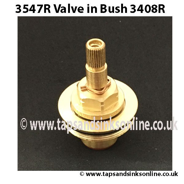 3547R valve inside 3408R Bush