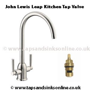 john lewis leap kitchen tap valve