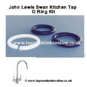 john lewis swan kitchen tap o ring kit 1239R