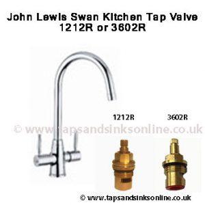 john lewis swan kitchen tap valve