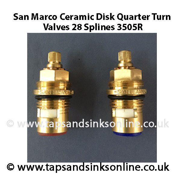 San Marco Ceramic Disc 3505R Valves Pair