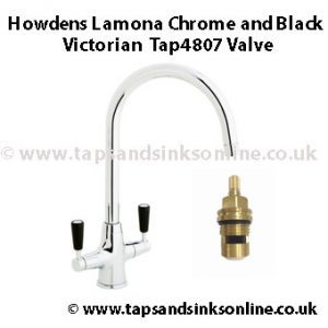 lamona chrome and black victorian tap4807 valve