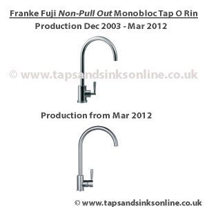 Franke Fuji O Ring Kit (non Pull Out Version)