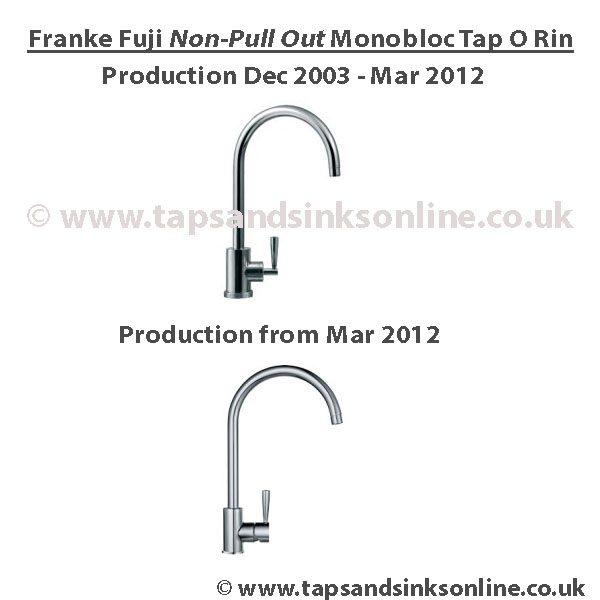 Franke Fuji O Ring Kit (non Pull Out Version)
