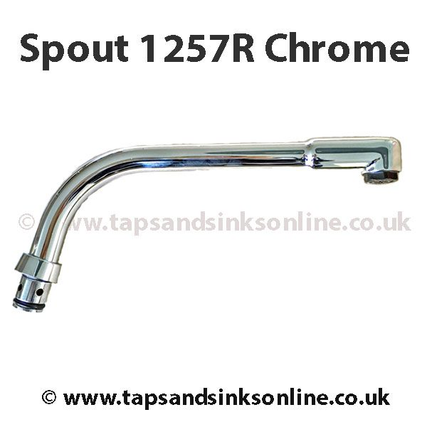 Spout 1257R Chrome