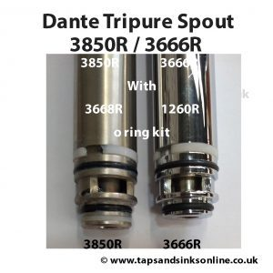 Spout 3850R and 3666R with 3668R and 1260R O Ring Kit