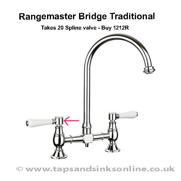 Rangemaster Bridge Traditional Handle Detail 1212R