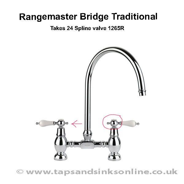 Rangemaster Bridge Traditional Handle Detail 1265R