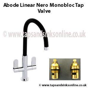 Abode Linear Nero Monobloc Tap Valve