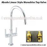 Abode Linear Style Monobloc Tap Valve