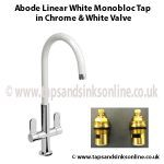 Abode Linear White Monobloc in Chrome & White