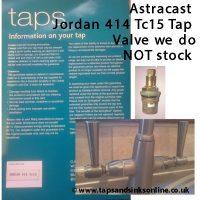 Astracast Jordan 414 TC15 Label NOT stocked