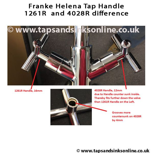 Franke Helena Tap Handle 1261R and 4028R