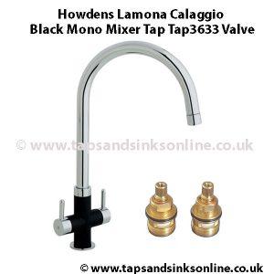 Howdens Lamona Calaggio Black Mono Tap3633 Valve