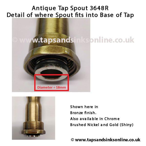 Spout 3648R Close Up Bronze