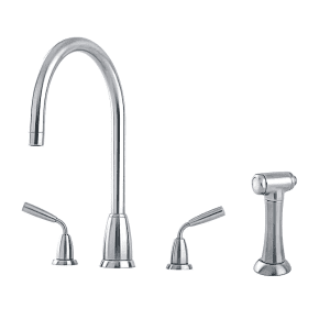 4876 Titan 3 Hole Tap with 'C' Spout and Rinse Tap Parts