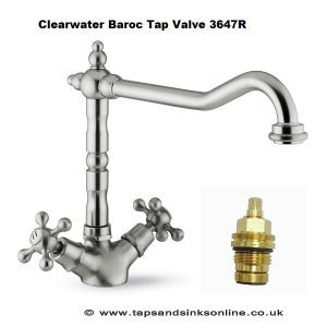 Clearwater Baroc Kitchen Tap Valve 3647R