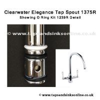 Clearwater Elegance Tap Spout 1375R spout detail 1239R O Ring Kit