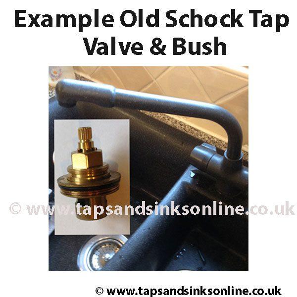 Example Old Schock Quarter Turn Kitchen Tap Valve & Bush