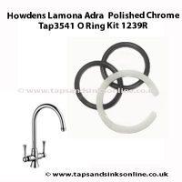 Howdens Lamona Adra Tap3541 O Ring Kit 1239R