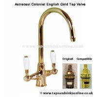 Astracast Colonial Monobloc English Gold Tap Valve Compatible