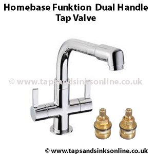 Homebase Funktion Dual Handle Tap Valve