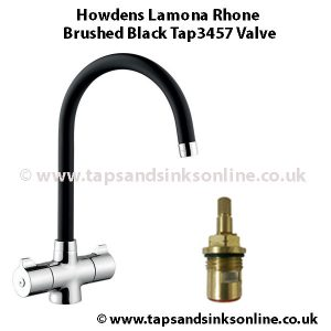 Howdens Lamona Rhone Brushed Black Tap3457 valve