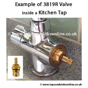 Example of 3819R Valve in Kitchen Tap
