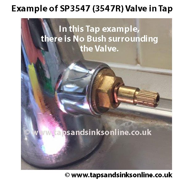 Example of 3547R Valve in Tap, no Bush