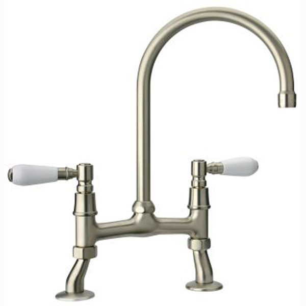 Magnet Swan Bridge Brushed Nickel & White