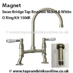 Magnet Swan Bridge Tap B.N White O Ring Kit.