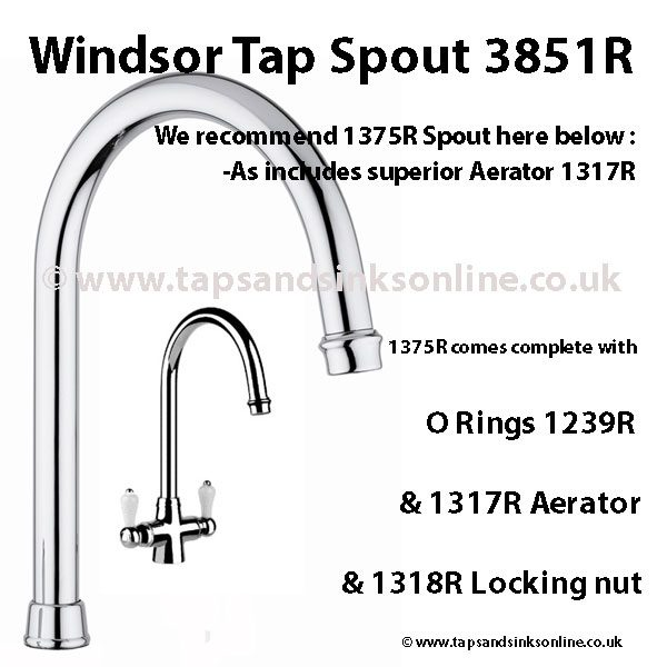 Windsor Tap Spout 3851R 1375R