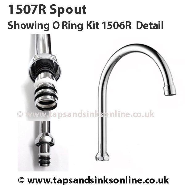 1507R Spout showing O Ring Kit Detail