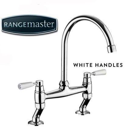 Rangemaster Belfast Bridge White Handles