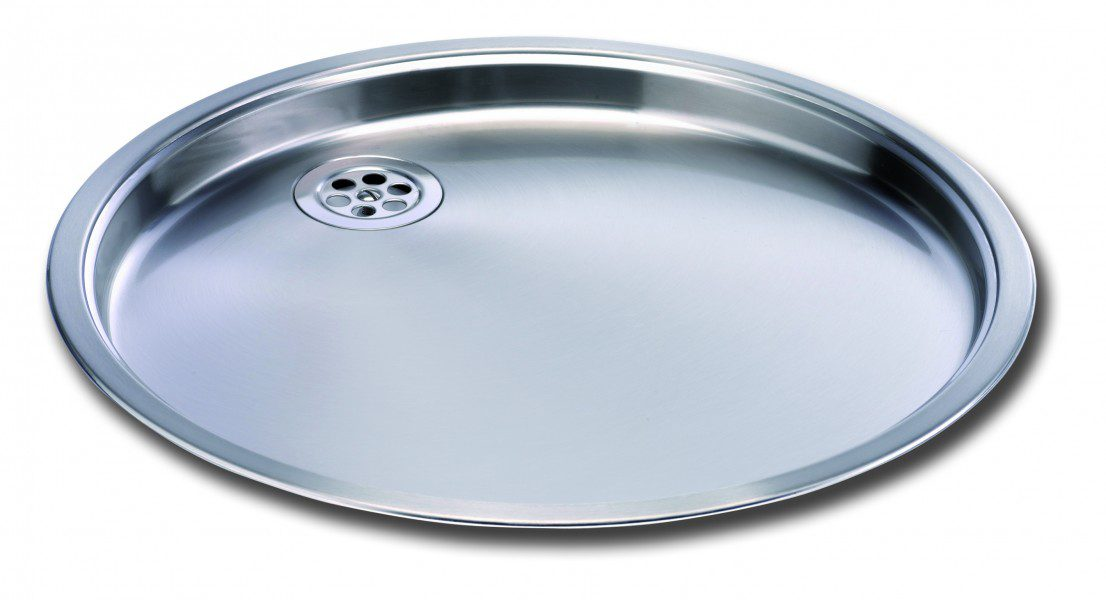 Round Bowl Kitchen Sink And Drainer