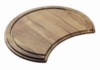 Carisma 400 Round Sink Chopping Board Bamboo