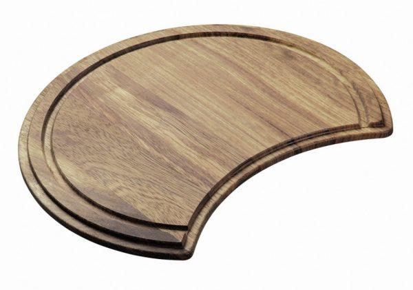 Carisma 400 Round Sink Chopping Board Bamboo