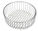 Round sink wire basket