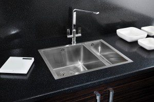 Deca 150 inset shown with Rennie Kitchen Tap